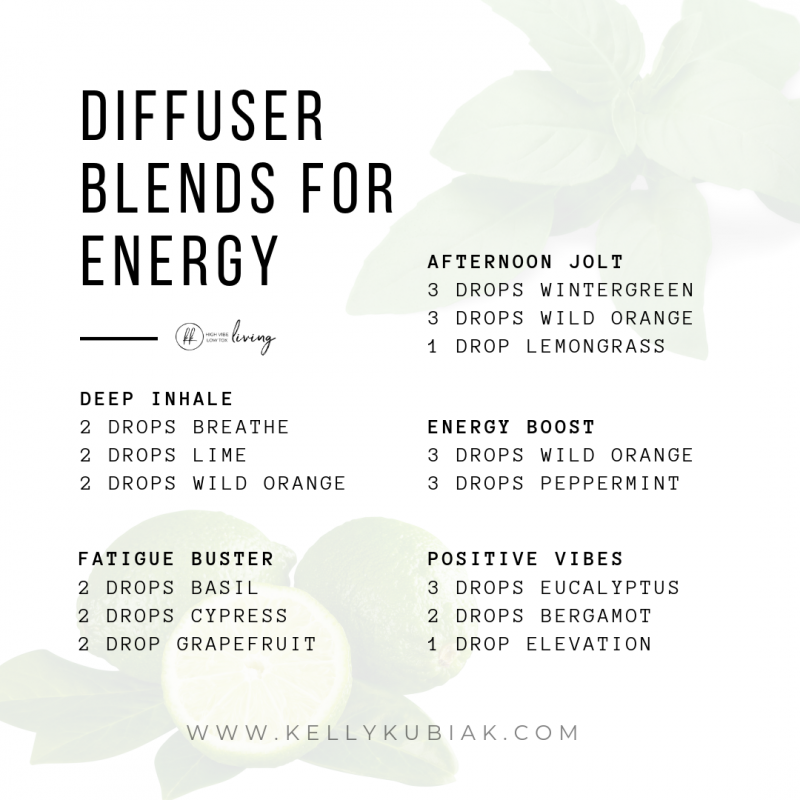 Essential Oil Blends for Energy