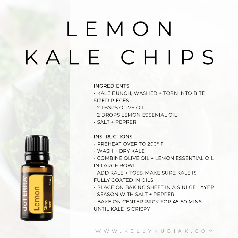Lemon Kale Chips