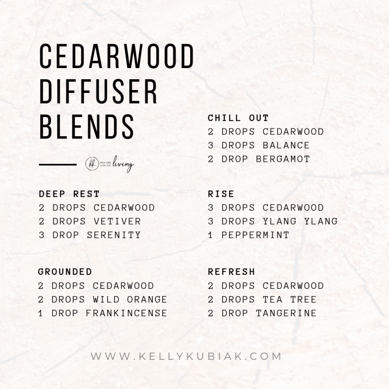 Cedarwood Diffuser Blends