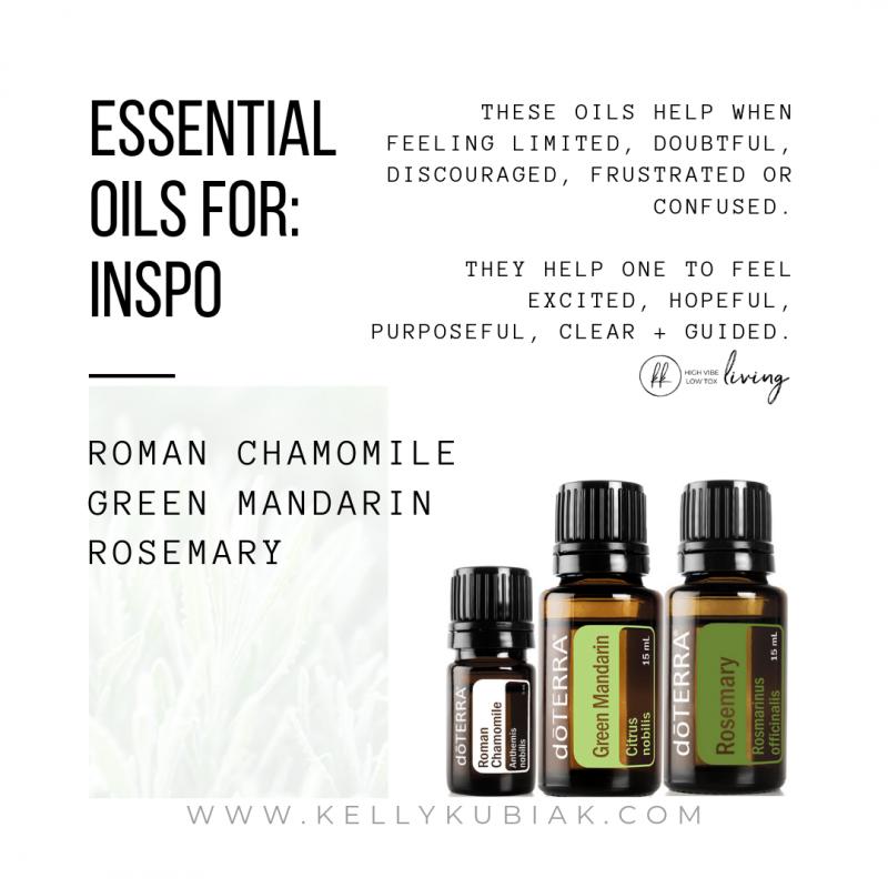 Essential Oils for Inspo