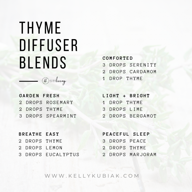 Thyme Diffuser Blends