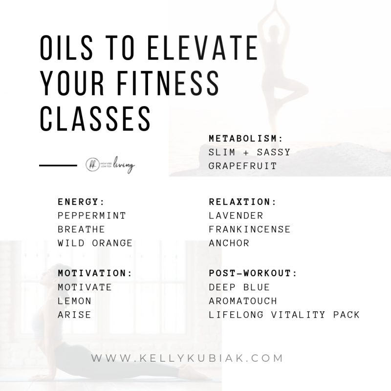 Essential Oils to Elevate Your Fitness Class