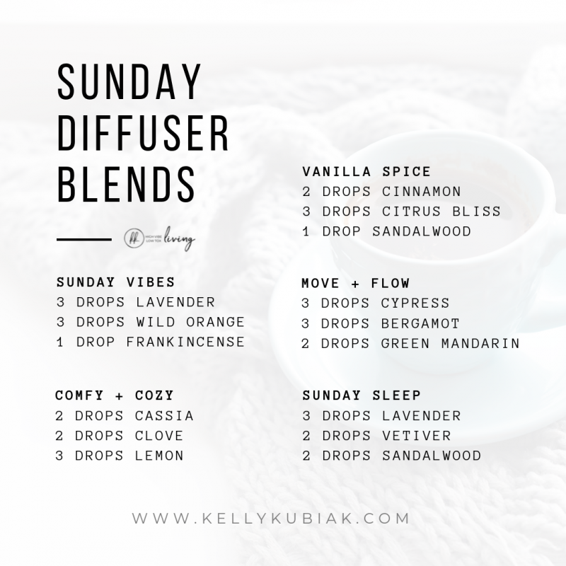 Sunday Diffuser Blends