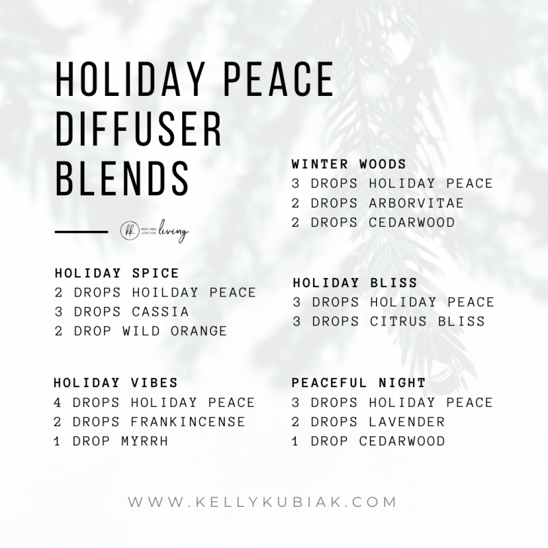 Holiday Peace Diffuser Blends