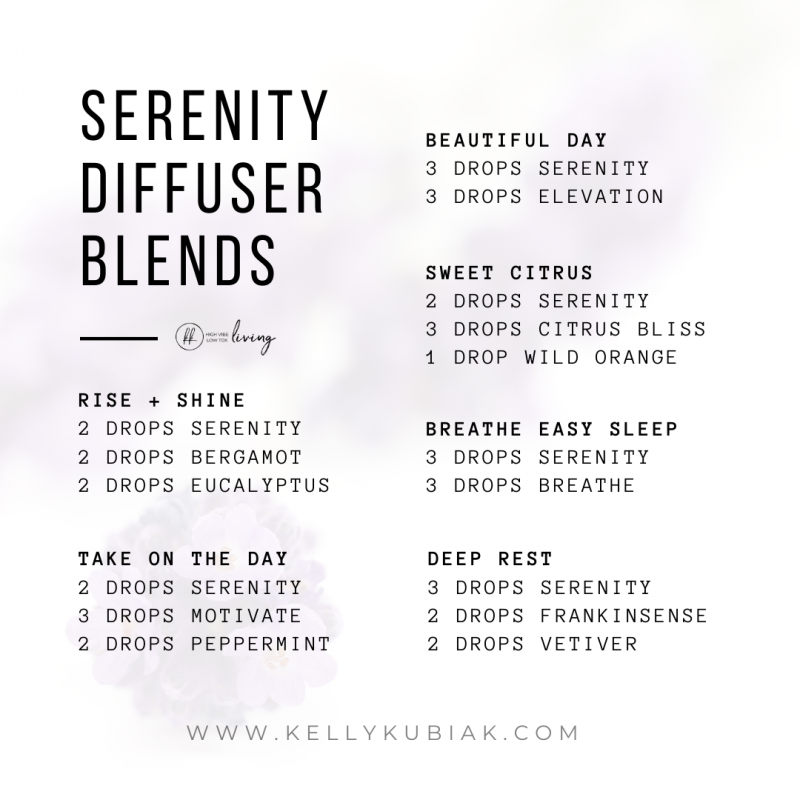 Serenity Diffuser Blends