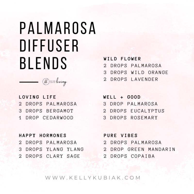 Palmarosa Diffuser Blends