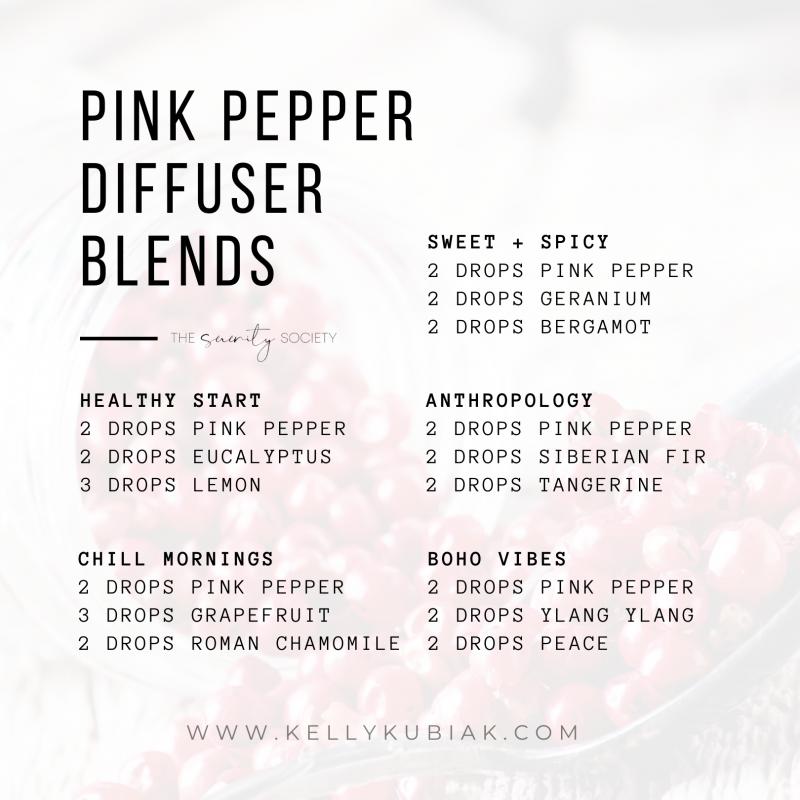 Pink Pepper Diffuser Blends