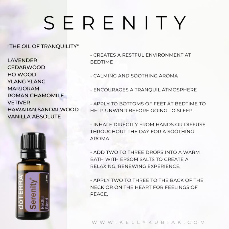 Serenity doTERRA Essential Oils