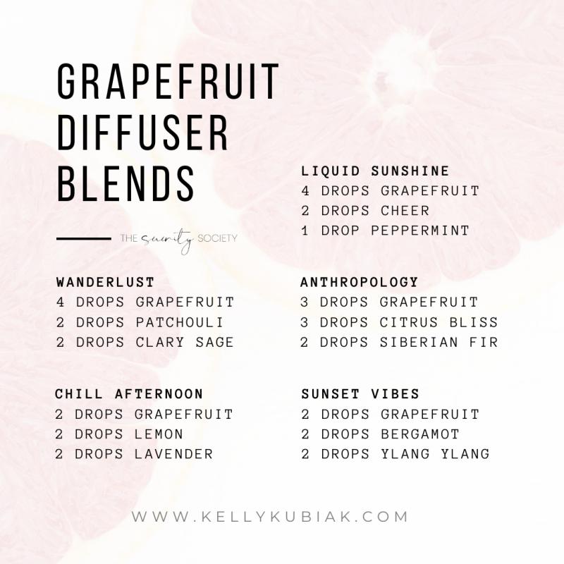 Grapefruit Diffuser Blends doTERRA Essential Oils
