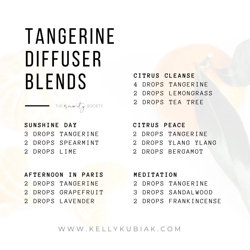 Tangerine Diffuser Blends doTERRA Essential Oils