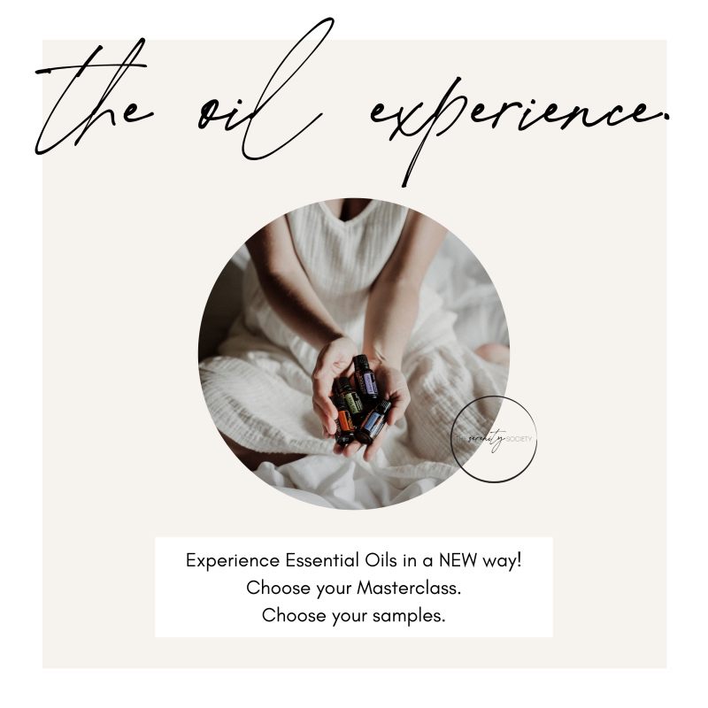 the oil experience - doterra essential oils class